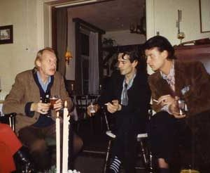 Jacob Kanbier with Simon Vinkenoog en Justus Donker in 1987