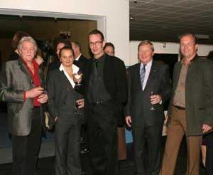 Jacob Kanbier in Marbella (Spain) with Reinier van Schoonderwoerd den Bezemer, Peter Klashorst, Schelto Baron van Heemstra en Joop Huisman in 2004